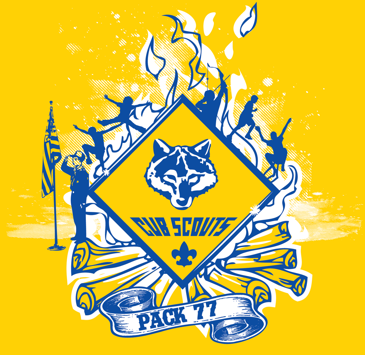 It is a picture of Unusual Cub Scouts Graphics